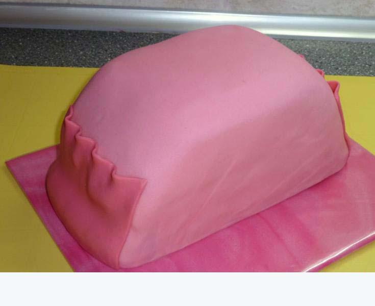 как сделать торт грудь