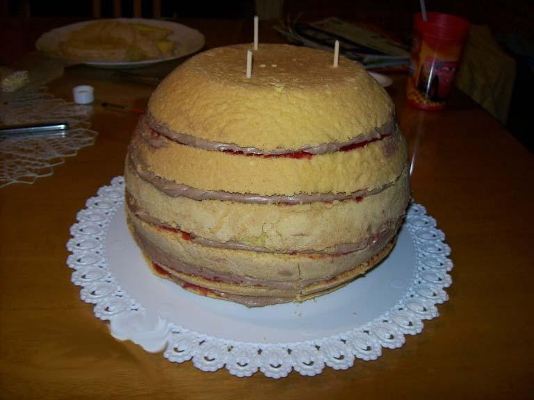 как приготовить торт мяч футбольный