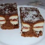 Пирог шоколадный с печеньем внутри