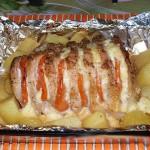Свинина в духовке с картофелем