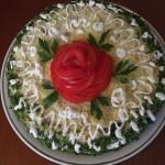 Закусочный торт из кабачков и капусты