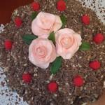 Шоколадный торт из зефира