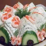 Салат из крабовых палочек и креветок