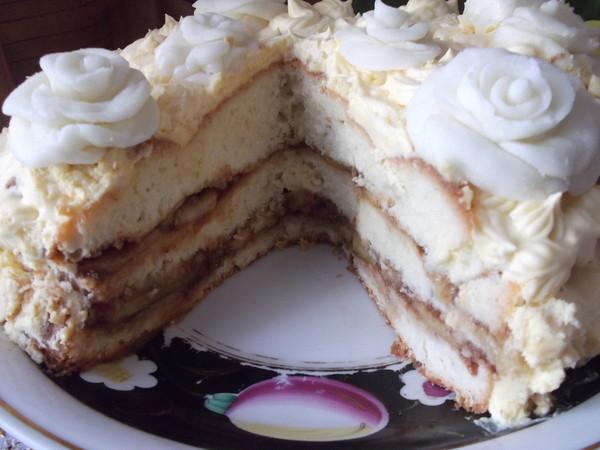 рецепт торт бисквитный фото