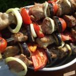 Как приготовить Шашлык из свинины с  овощами