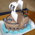 Мастер-класс торта «Пиратский корабль». Торт Корабль.