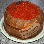 торт «Бочонок с икрой». Рецепт торта из мастики с фото.