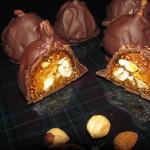 Шоколадные домашние конфеты из инжира с орехами и курагой