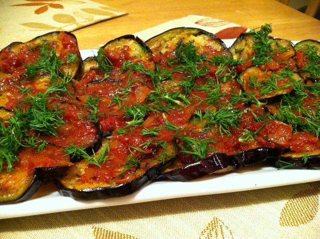 блюда из баклажан в духовке рецепты быстро
