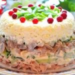 салат из копченной куриной грудки