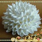 цветы из белкового заварного крема