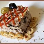 салат  фьюжн - салат мясной с черносливом