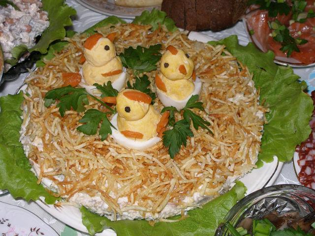 куриные гнезда рецепт
