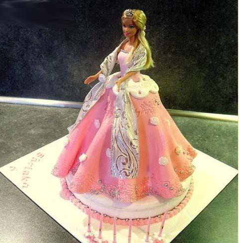 торт кукла барби из мастики пошаговый рецепт с фото