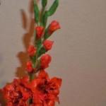 Мастер-класс цветов из мастики — Гладиолус.