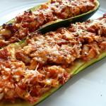 Italian Style Stuffed Zucchini -1