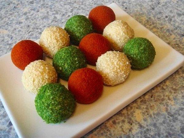 творожные разноцветные шарики рецепт