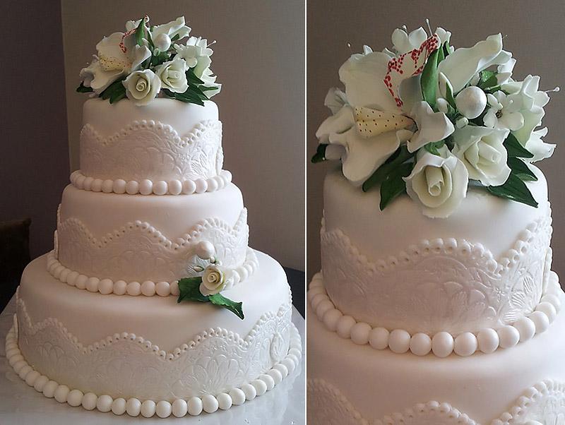 Торты своими руками с мастикой свадебные