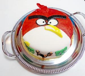Торт из мастики Angry Birds