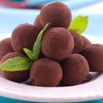 Домашние конфеты трюфели с орехами и инжиром.