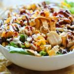 Овощной салат с курицей-гриль
