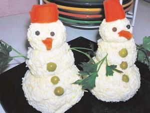 Салат-снеговик