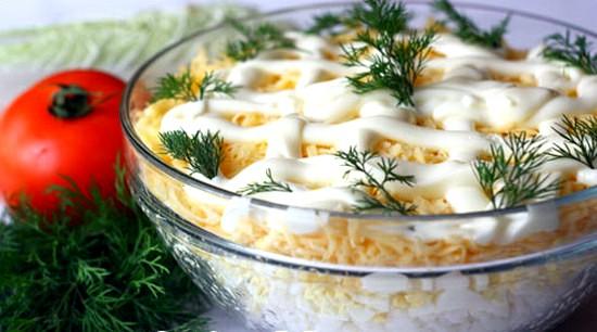 рецепты салатов с фото из мяса или курицы