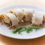 Роллы из лаваша с грибами и сыром – великолепная альтернатива бутербродам
