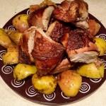 Курица в духовке с яблоками – нежное мясо с хрустящей, ароматной корочкой