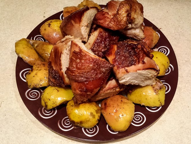 Целая курица в духовке с хрустящей корочкой пошаговый рецепт