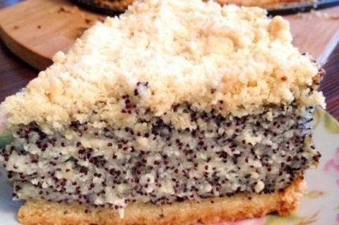 Творожный торт с маком