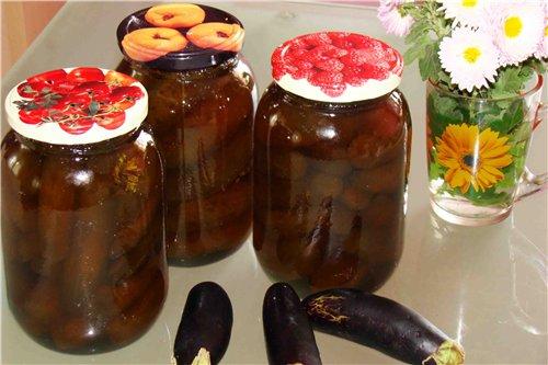 маринованные баклажаны целиком на зиму рецепты с фото