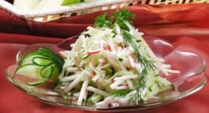 Салат из яблок и крабового мяса, пошаговый рецепт с фото