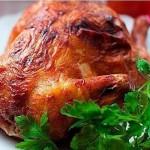 Курица в духовке в горчичном маринаде