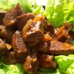 Легкие телячьи в кисло-пряном соусе – старорусская кухня