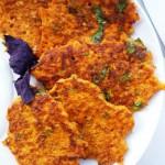 Оладьи из моркови и томатов – полезное блюдо. Морковные оладьи