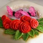 Простые розы из мастики. Мастер-класс