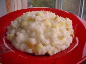Рисовая каша с ванилью и яблоками, пошаговый рецепт с фото