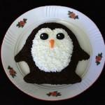 Новогодний салат Пингвин. Салат с консервной рыбой