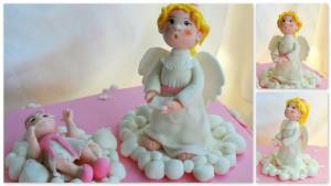 Ангел из мастики – мастер-класс. Замечательное украшение торта к Рождеству!