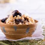 Рождественская кутья из пшеницы с инжиром и изюмом
