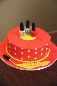 Торт из мастики Лак для ногтей. Видео