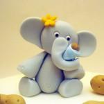 Животные из мастики: как сделать слона – видео-шаг 1