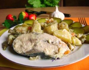 Тунец – рецепт приготовления. Рыба в духовке с овощами