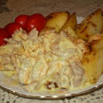 Старорусская кухня – куриные желудочки в молочном соусе