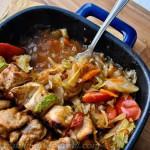 Куриный шашлык в духовке плюс овощной гарнир