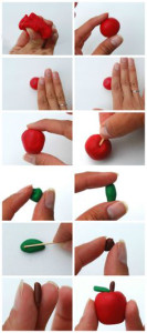 Украшения из мастики. Как сделать яблоко из мастики – мастер-класс-шаг 3
