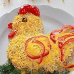 Блюдо на новый год 2017 – салат Петушок