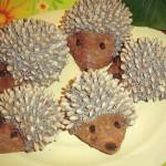 Пирожное из печенья Ёжики