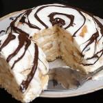 Нежный медово-творожный торт